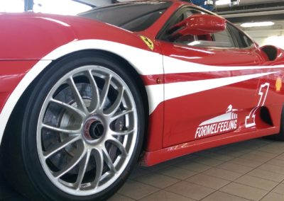 Ferrari Teilfolierung Racingbeklebung