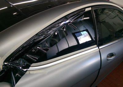 Mercedes AMG Teilfolierung Chromleisten in schwarz glanz 2