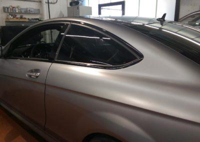 Mercedes AMG Teilfolierung Chromleisten in schwarz glanz 6