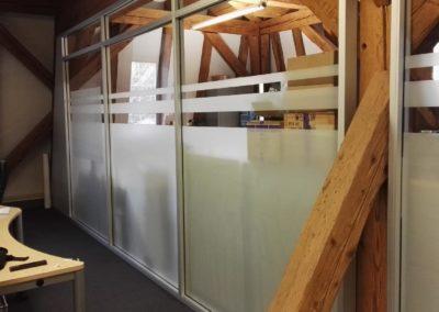 Sichtschutzfolie Büro Glasstrennwand 2 (zuschnitt Handmade)
