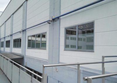 Sichtschutzfolie Lager Bosch (Sicht von aussen)