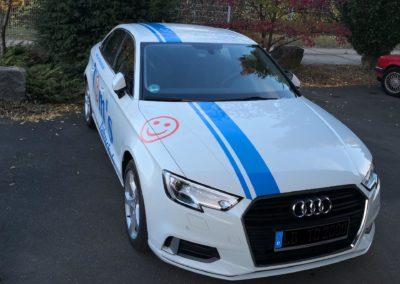 Tom's Fahrschule Werbebeklebung Audi A3 Lim. 2