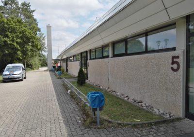 Turnhalle in Großbottwar Sichtschutzfolie an den Umkleiden